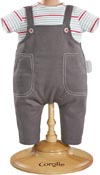 Dockkläder 30 cm Smock & Denim overall
