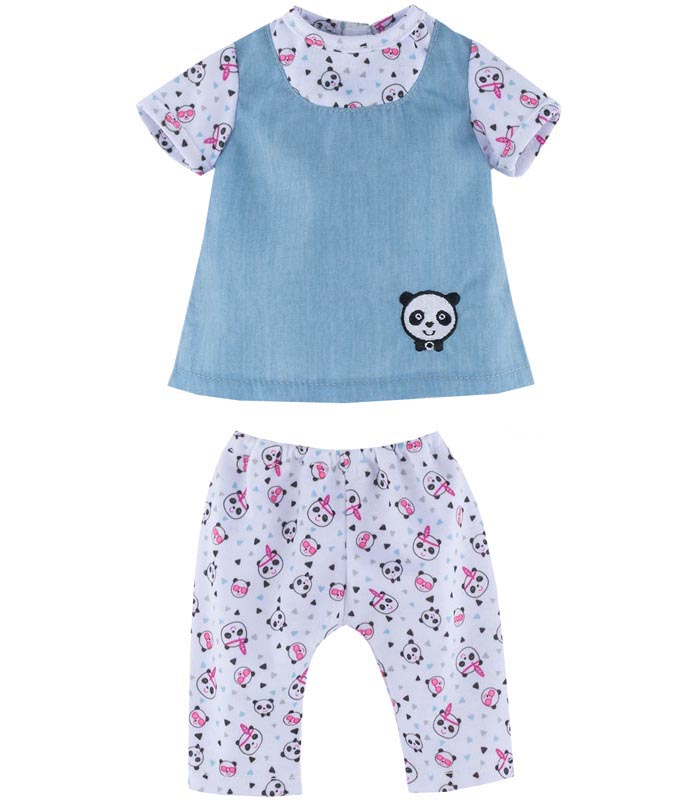 Corolle Dockkläder 36M Blouse Panda Party