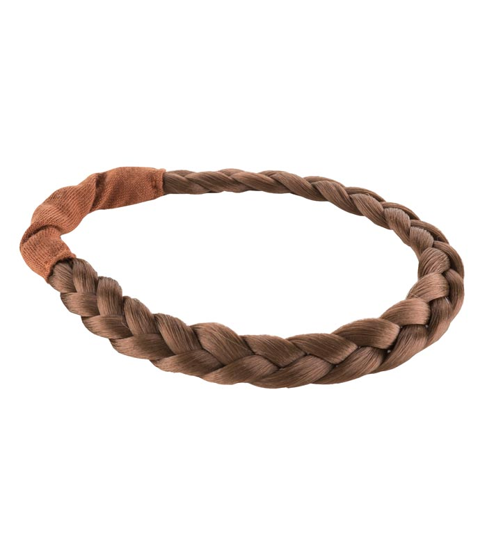 Dockaccessoar Hårband fläta brun