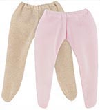 Dockkläder 36M Tights 2-p Golden & Pink