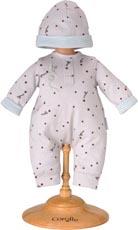Dockkläder 30 cm Grey star pajamas & hat