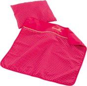Corolle Bäddset filt och kudde Cherry