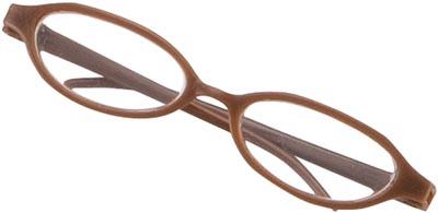 Dockaccessoar Glasögon brun