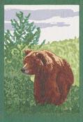 Handduk 35 x 50 cm Brown Bear