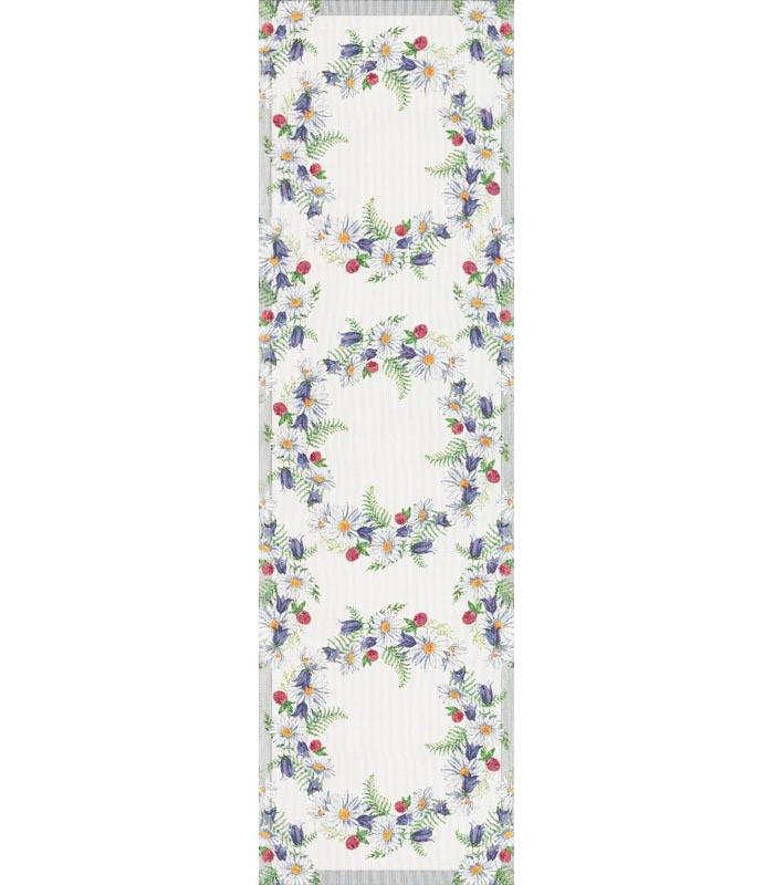 Löpare 35 x 120 cm Blomkrans