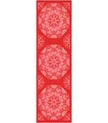 Bordslöpare 50 x 150 cm Hjärtbo 330 röd