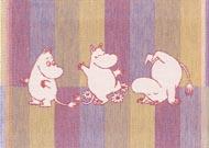 Diskduk Moomin Stripe 01 blå*
