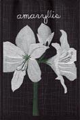 Handduk 35 x 50 cm Lindas Amaryllis text*