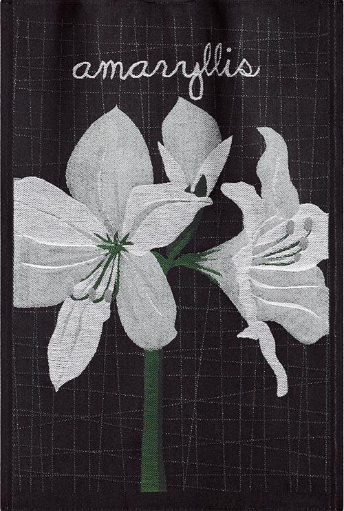 Handduk 48 x 70 cm Lindas Amaryllis text*