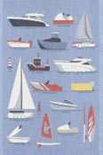 Handduk 40 x 60 cm Båtar