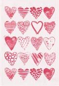Handduk 35 x 50 cm Hearts