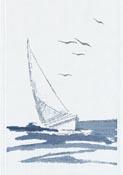 Handduk 35 x 50 cm Segelbåt