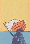 Handduk 35 x 50 cm Moomin & Boat