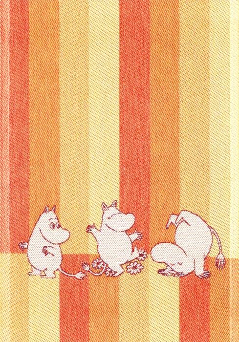 Handduk 35 x 50 cm Moomin Stripe 07 gul*