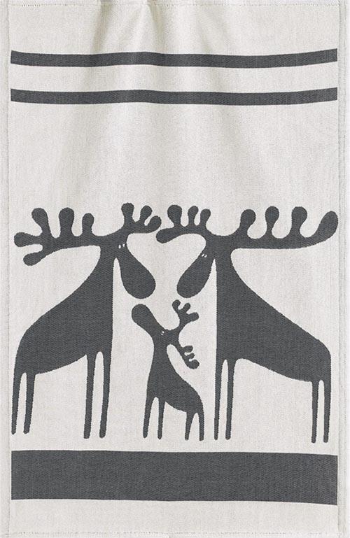 Handduk 35 x 50 cm Älgfamilj