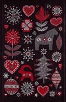Handduk 35 x 50 cm Julnatt 90 svart