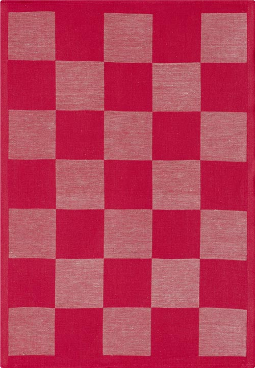 Handduk 50 x 70 cm Schack röd*