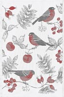 Handduk 48 x 70 cm Vinterfågel