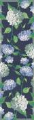Löpare 35 x 120 cm Vit Hortensia