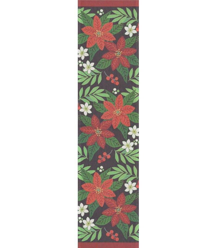Bordslöpare 35 x 140 cm Rödblom
