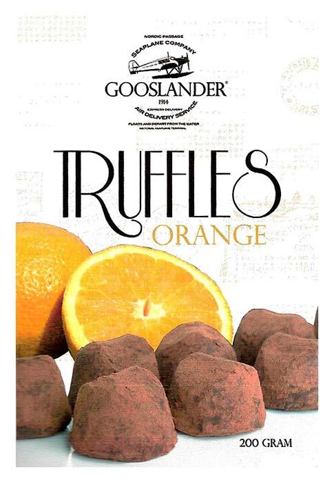GOOSLANDER Tryffel Apelsin 200 g