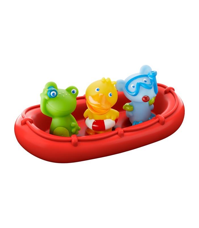 Haba Badleksak Båt med fingerdockor djur