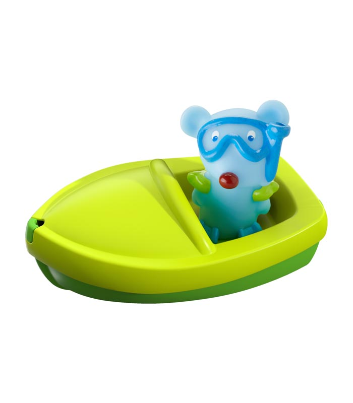 Haba Badleksak Båt med fingerdocka mus