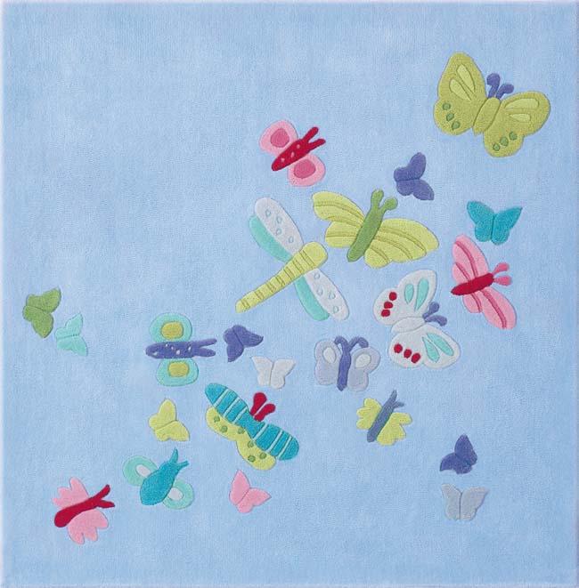 Barnmatta Sommar fjärilar