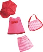 Haba dockkläder Dress set rose red