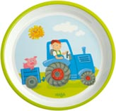 Haba Barntallrik Traktor