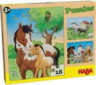 Haba Barnpussel Hästar