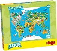 Haba Barnpussel Världskarta