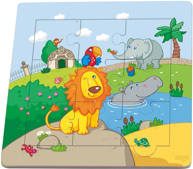 Haba Träpussel Lejon och hans vänner
