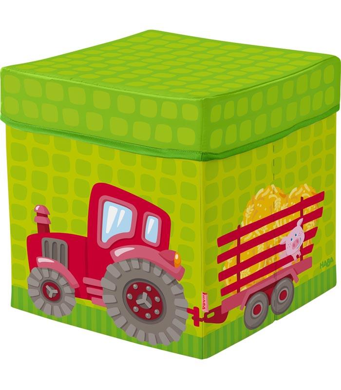Haba Sittkub med förvaring Traktor