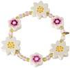Armband Blommor vitt