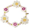 Haba Armband Blommor vitt