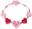 Armband Hjärtan rosa