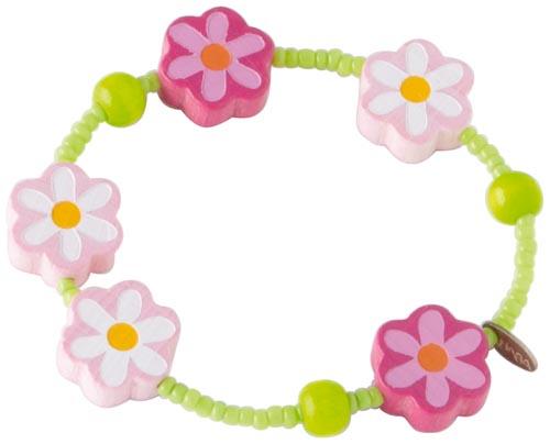 Haba Armband Rosa blommor