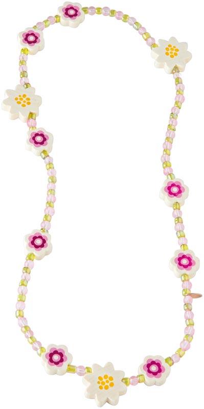 Haba Halsband Blommor vitt
