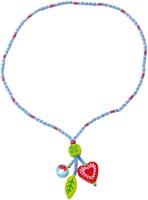 Halsband Hjärta o blad