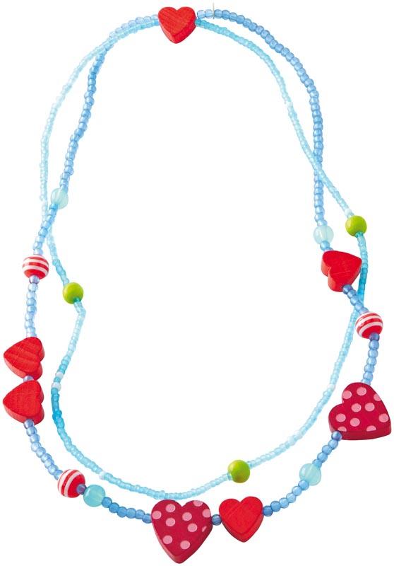 Haba Halsband Hjärtan blå