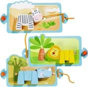 Trä-på-spel Vilda djur
