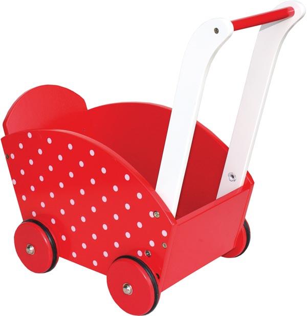Jabadabado Dockvagn röd med prickar