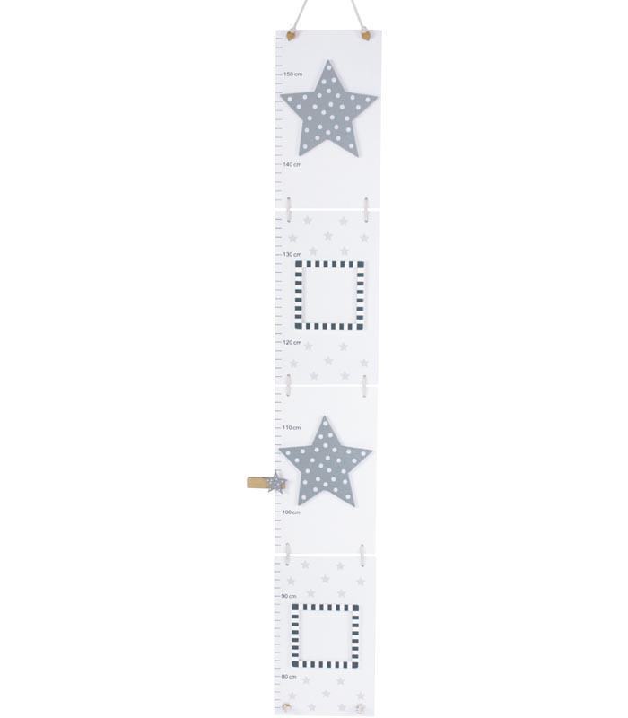 Jabadabado Mätsticka Stjärna grå