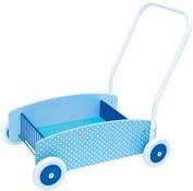 Lära gå vagn Blå