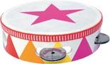 Musikinstrument Tamburin stjärna rosa