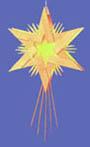 Adventsstjärna i träspån
