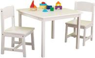 Barnbord & två barnstolar Aspen vit