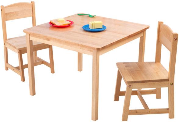 Barnbord & två barnstolar Aspen natur