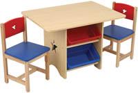 Barnbord & två stolar Stjärna